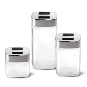 Barattolo vetro cl 100 cube lagostina stilcasa net - Contenitori da cucina ...