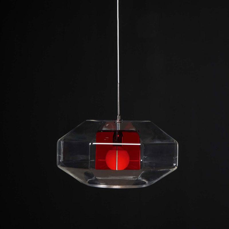 Lampadario a sospensione ADAMAS diametro 60 rosso  Emporium  Stilcasa.Net: ...