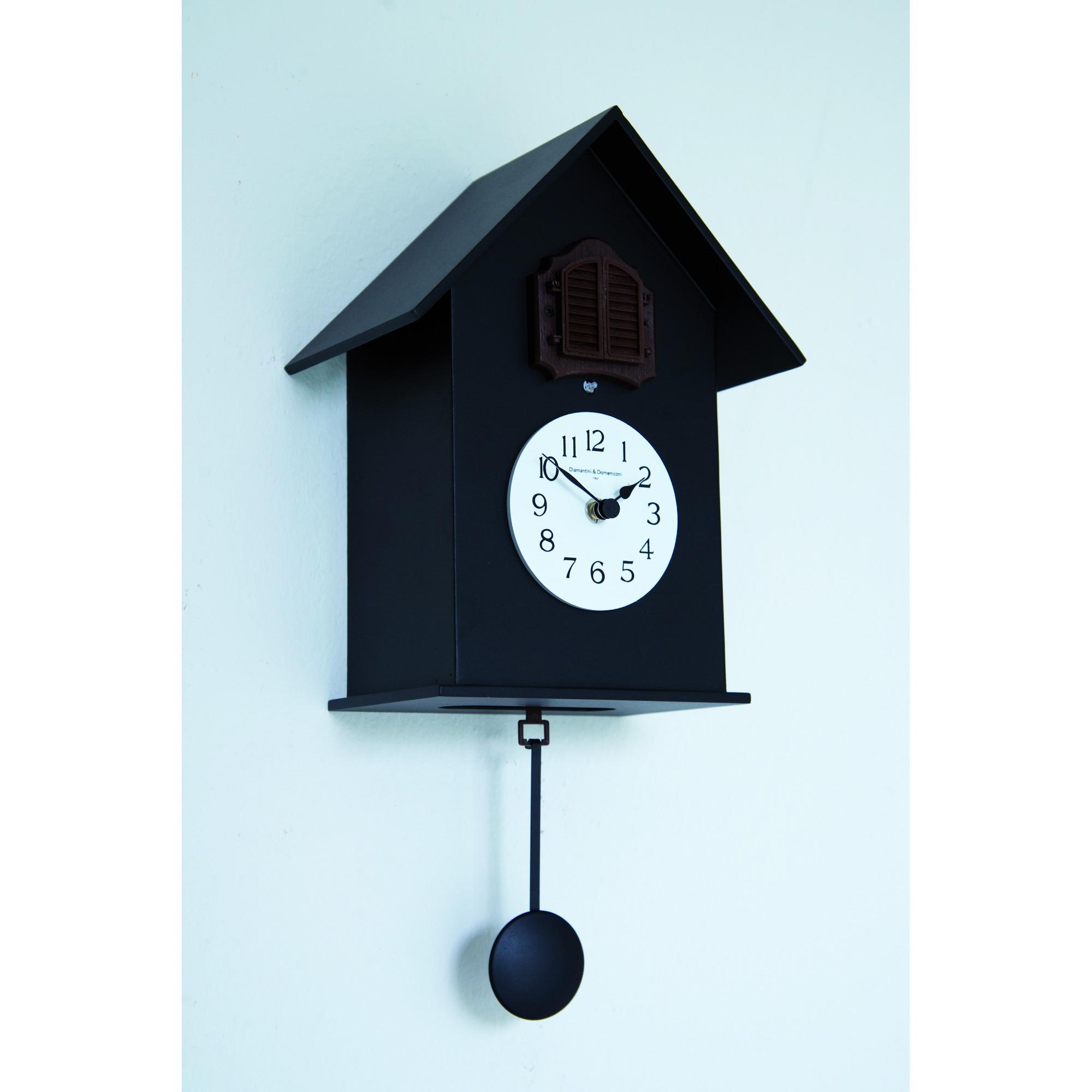 Orologio cucu da muro in legno con cassa in legno laccato - Orologio cucu design ...