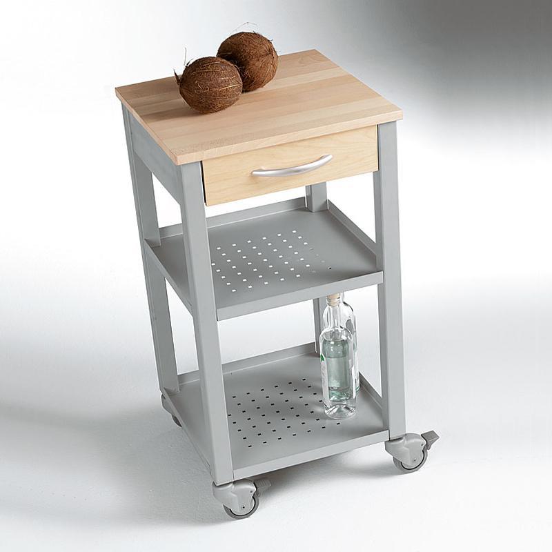 Carrello da cucina 47x47xh87 cm con cassetto due ripiani - Carrello cucina acciaio ...
