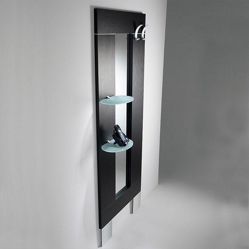 Ingresso con specchio appendiabiti mensole ovali h 190 - Mobili da ingresso con appendiabiti ...