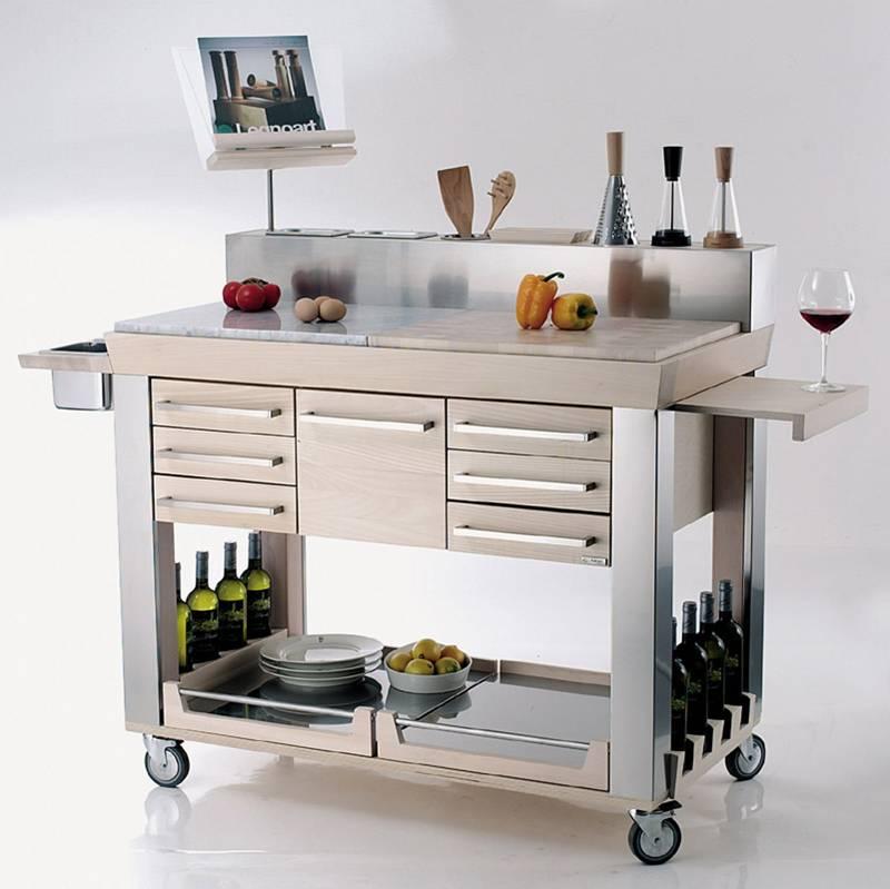 Carrello da cucina platinum legnoart stilcasa net carrelli da portata - Carrello cucina acciaio ...