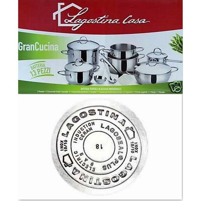 Batteria Gran Cucina 13 Pz Lagostina Stilcasa Net
