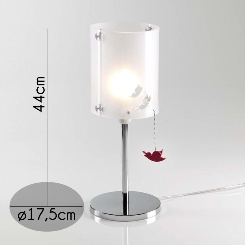 Lampada da tavolo BUTTERFLY in plexiglass monosatinato ø17,5xh44cm ...