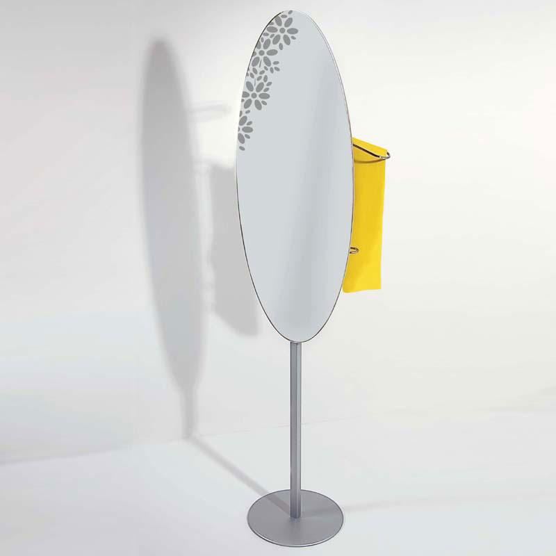 Servomuto appendiabiti specchio 46x30xh148 cm identity con - Specchio appendiabiti ...