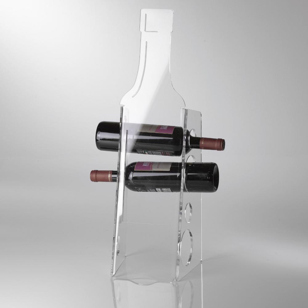 Portabottiglie da terra bottle 18x20x59h cm in plexiglas for Porta bottiglie vino