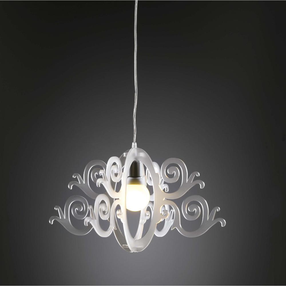 lampadari in plexiglass : Lampadario a sospensione diametro 55xh30 cm IMPERO in plexiglas da 3 ...