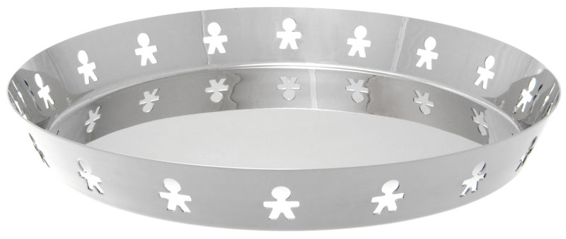 Alessi vassoio tondo mini girotondo in acciaio inox lucido for Alessi girotondo prezzo