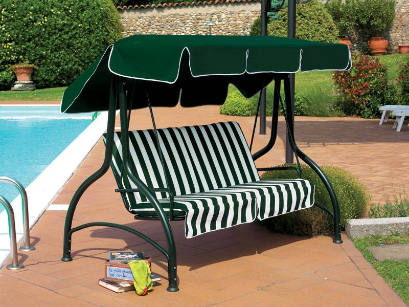 Dondolo supersplendido 3posti verde scab giardino s p a for Scab giardino s p a