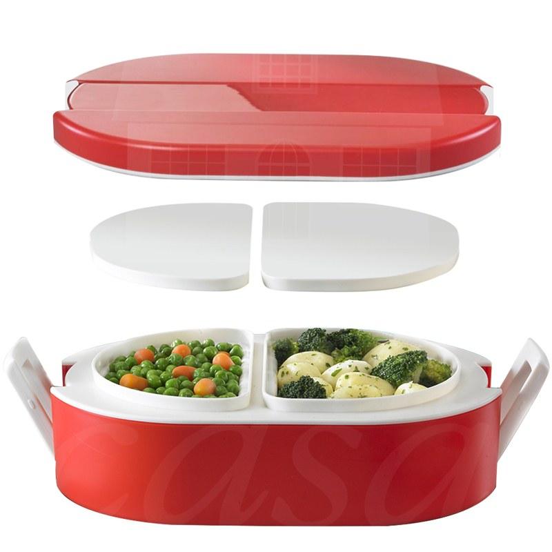 Lunchbox termico ovale per alimenti con vaschette interne for Vaschette per tartarughe prezzi
