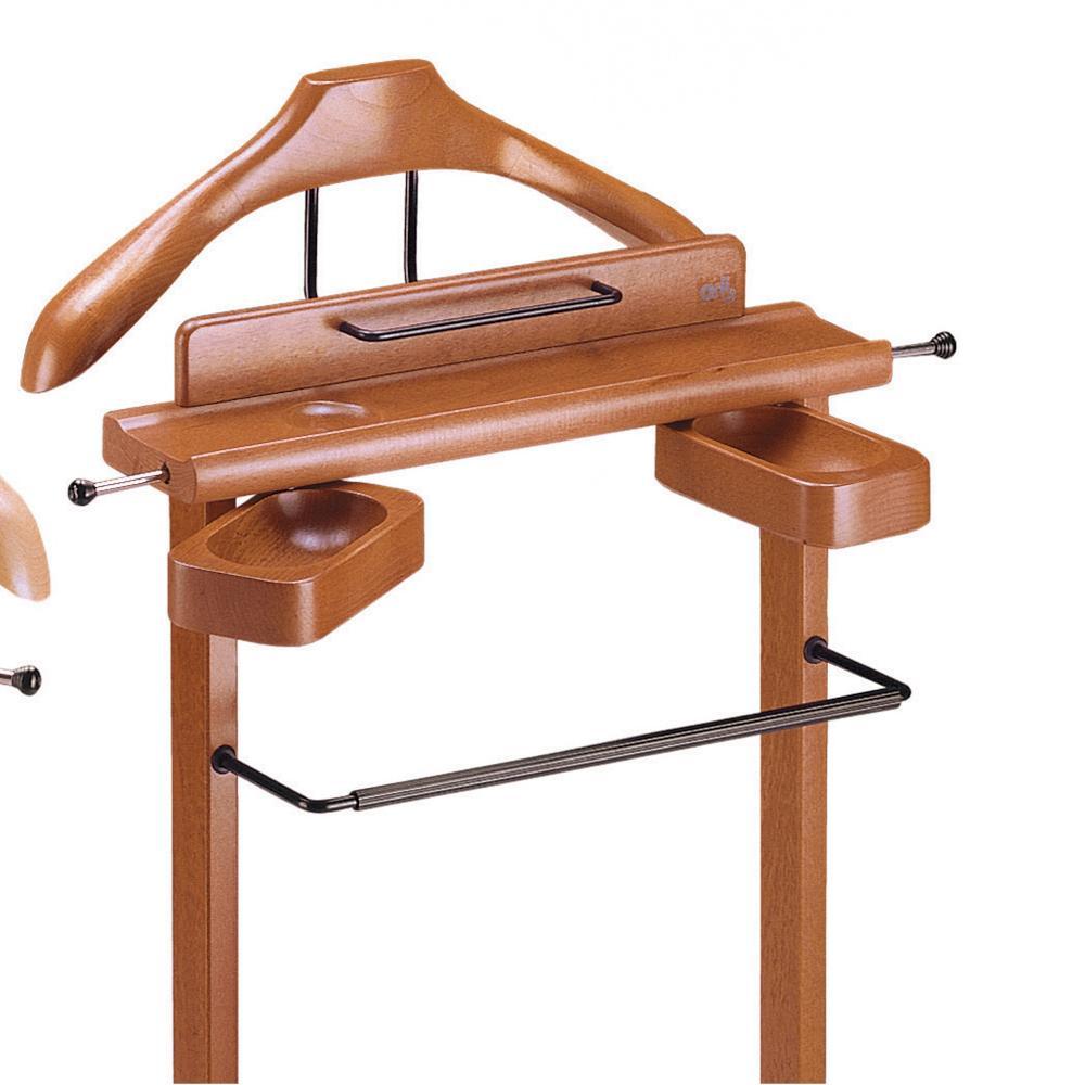 Indossatore appendiabiti con Portaoggetti in legno massiccio GALANT Ciliegio ...