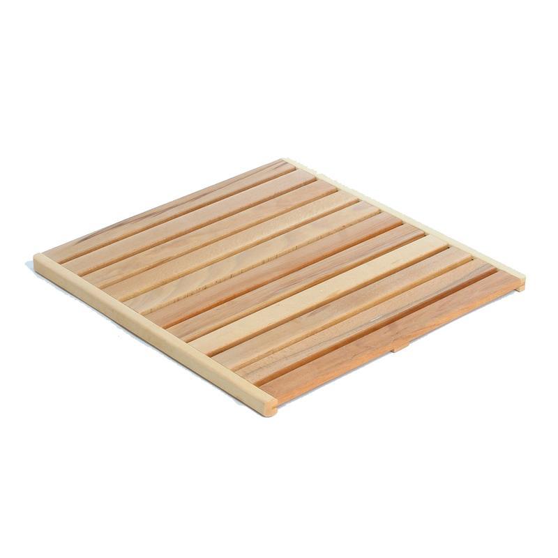 pedana doccia legno riciclo : Pedana Doccia 60x60 cm Listellare Ischia in legno di faggio ...