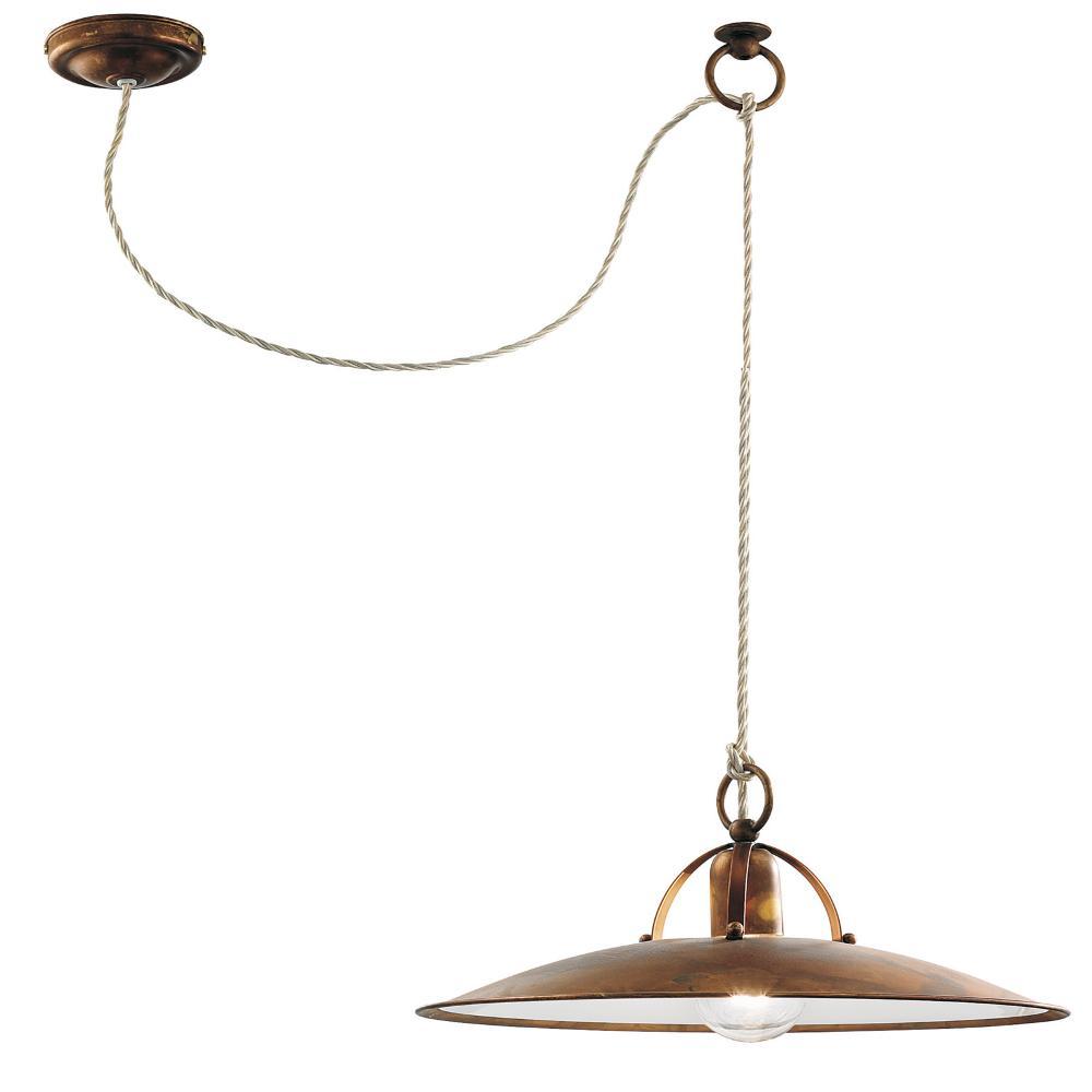 Lampada a sospensione con filo 2 00 mt osteria 40xh2 00 for Lampadari con filo lungo