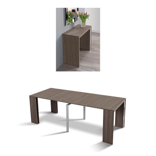 Tavolo consolle allungabile richiudibile in soli 50 cm apertura max aperto leonardo - Tavolo richiudibile ...