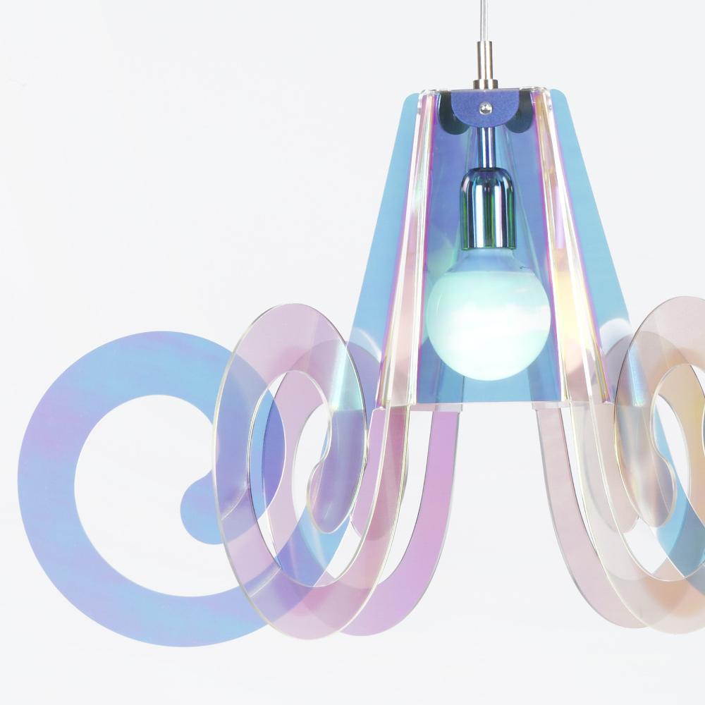 lampadario ricciolo : Lampadario a sospensione diametro 75xh43 cm Ricciolo Flash con 5 ...