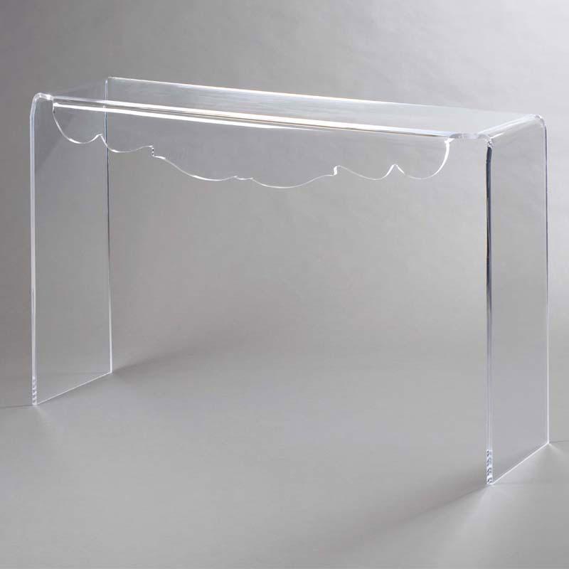 Consolle 112.5x34.5xh76 cm DECO in plexiglass trasparente e decoro ...