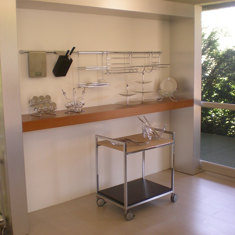 Barra da cucina portautensili lunghezza 90 cm diametro 1.60 cm ...