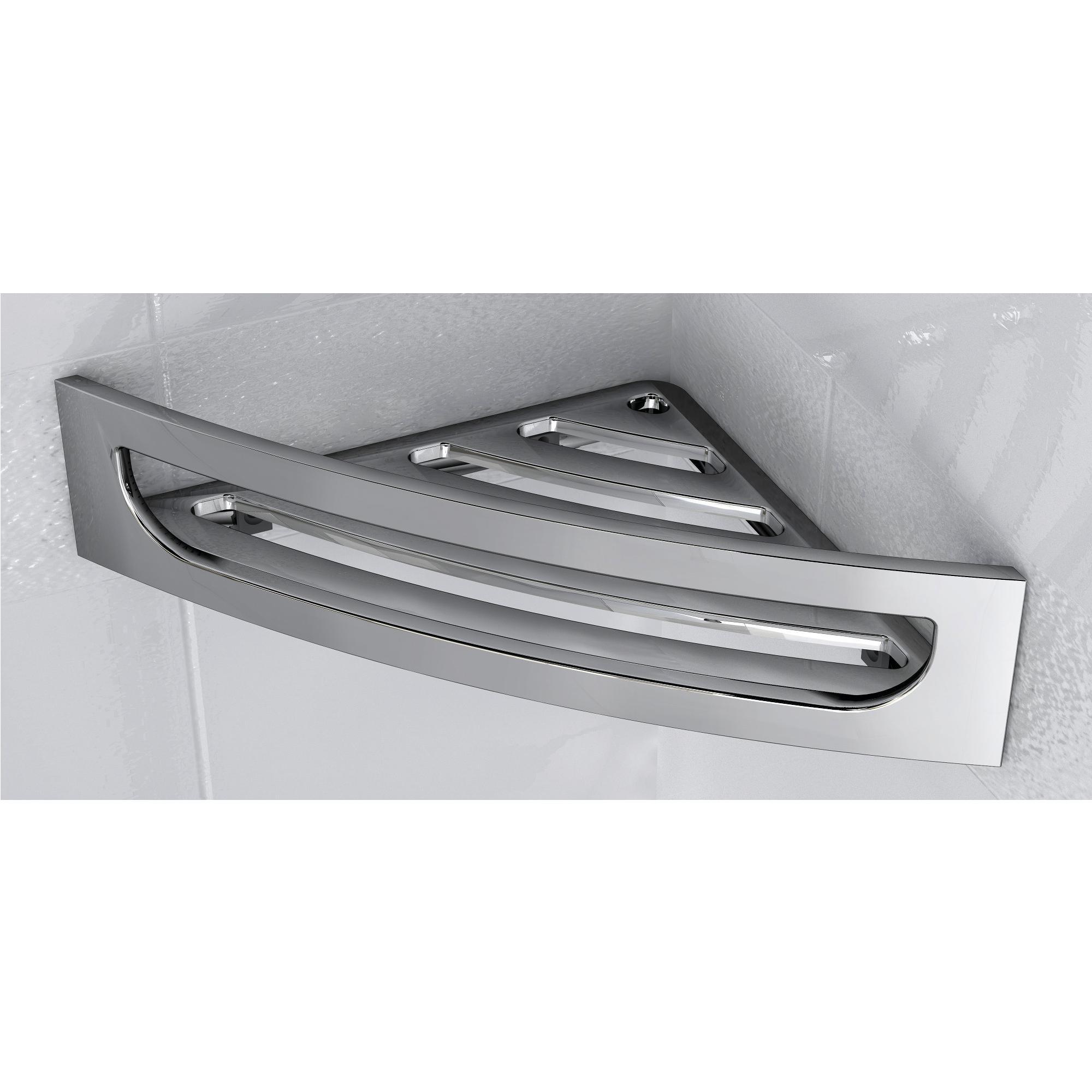 Angolare per doccia in acciaio inox 4hx16x30 cm completo - Accessori bagno inox ...